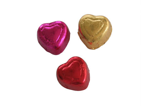 Isolated colorful candy hearts