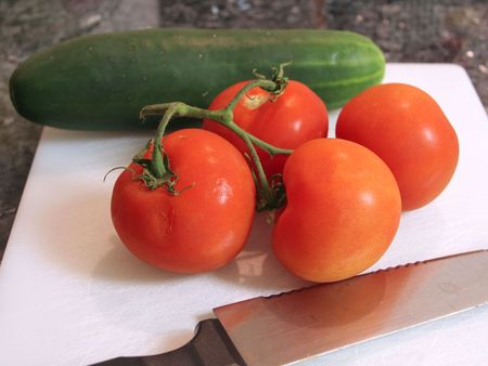 Close up of vine tomatoes Stock Photo - 329973