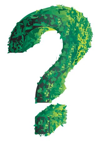Topiary of a question mark