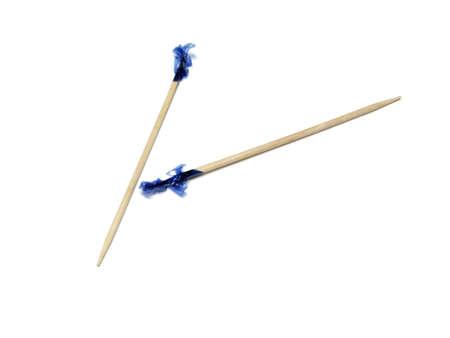 Isolated toothpicks on white