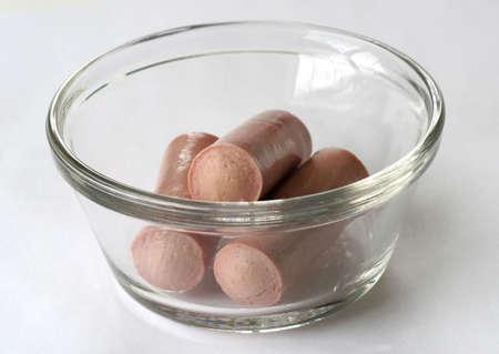 Close up of vienna sausage Stock Photo