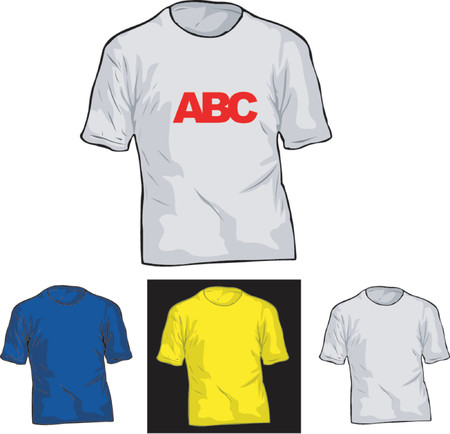 Color and White TShirt Templates. Stock Vector - 1279810