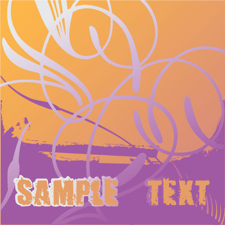 Flayer Scroll and Text. Stock Vector - 1279814