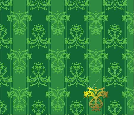 patten: Green Floral Patten.