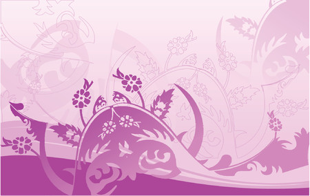 Purple Curves Background. Vector