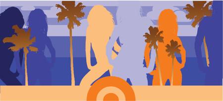 Disco Beach Party. Vector