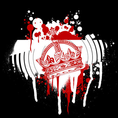 Red Crown Graffiti Vector