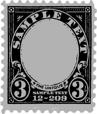 Black Old Postal Mark Vector