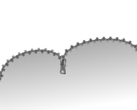 Open Zipper Stock Vector - 2240479
