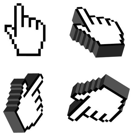 acute angle: 3D Vector Hand Cursors