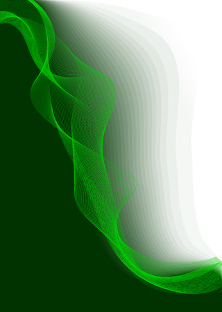 Green Vector Lines Background.No Meshes. Stock Vector - 6151659
