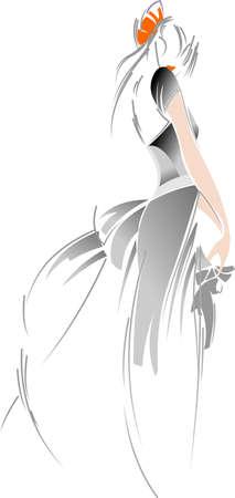 skirts: fashion Bride Drawing Illustration