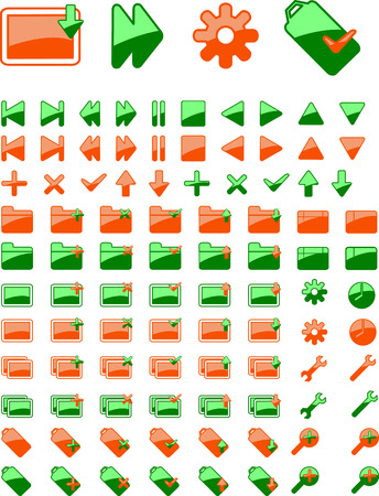 part i: Brand New Green Orange Web Icon. part I. More In Portfolio. Illustration