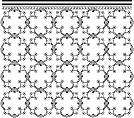 Seamless Architecture Ornate Grid Vector