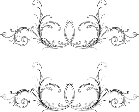 free vector art: Baroque Two Styles: Traditional and Calligraphy.All Curves Separately.