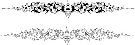 Baroque Two Styles: Traditional and Calligraphy Vector