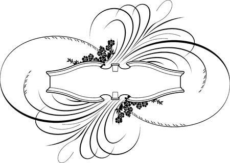 immagine gratuita: Barocco banner calligrafia stile Vettoriali