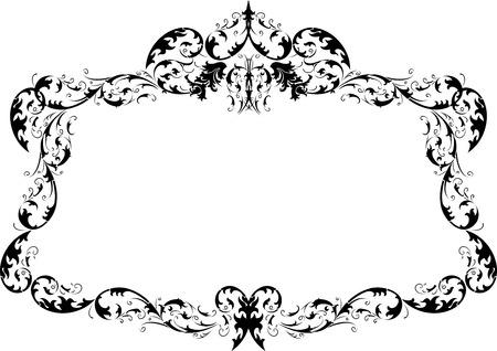 calligraphy frame: Real ornamentada caligraf�a Frame