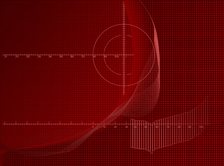 light streaks: Red Axis Chart Abstract Business Background