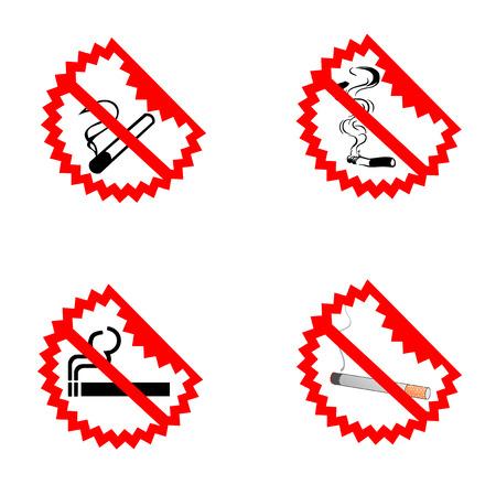 Modern No Smoking Symbols Vector