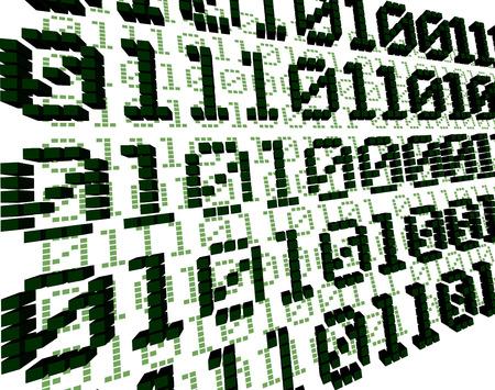 Green Digital 3D Background Stock Vector - 3250255