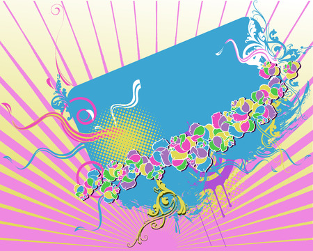 Horizontal Pastel Banner Vector