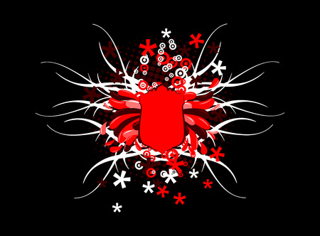 Black And White Red Banner Vector