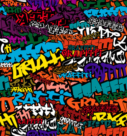 Seamless Graffiti Color Background Illustration