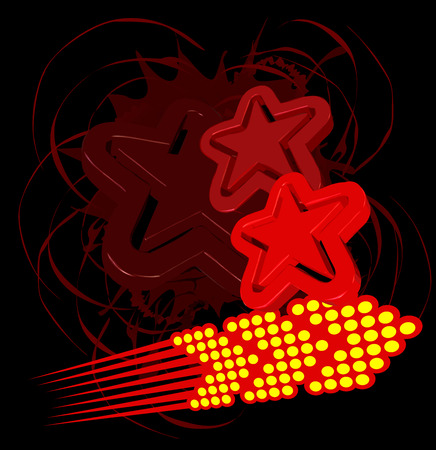 Abstract Red Stars and Arrow Stock Vector - 3250338