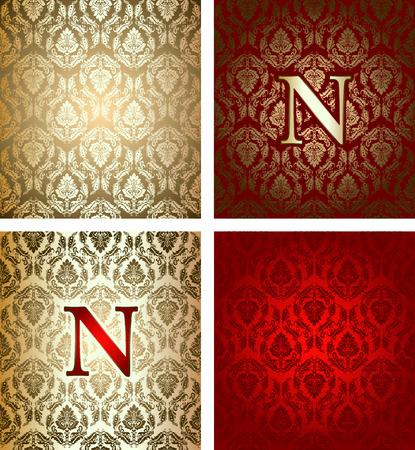 napoleon: Red Gold Royal Background Illustration