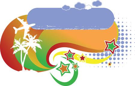 Tropical Avia Vacation Logo Stock Vector - 3536311