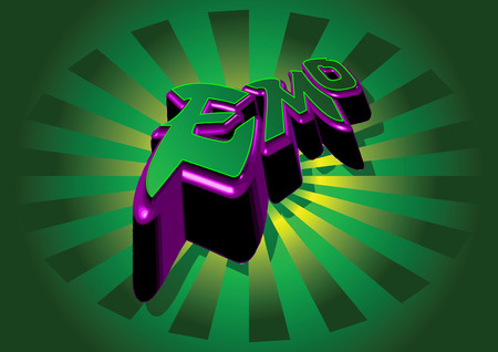 person shined: abstract green purple emo Illustration