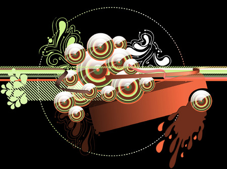 Glossy Caramel Abstract Background Vector