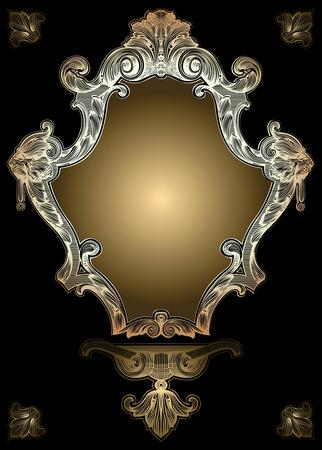 Decorative Gold Royal Ornate Banner Stock Vector - 3876754