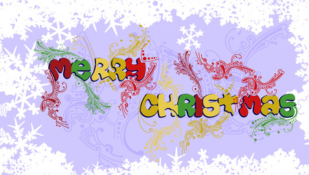 Multicolored Merry Christmas Vector