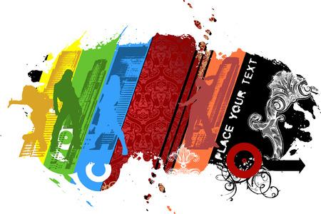 Multicolored City Hip-hop