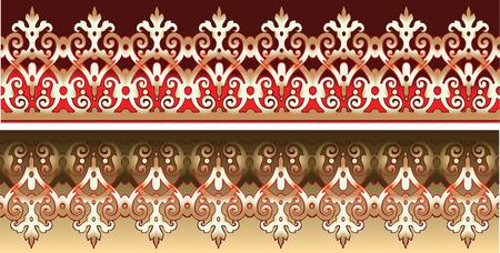 immagine gratuita: Seamless Gold Lace ornato sul rosso