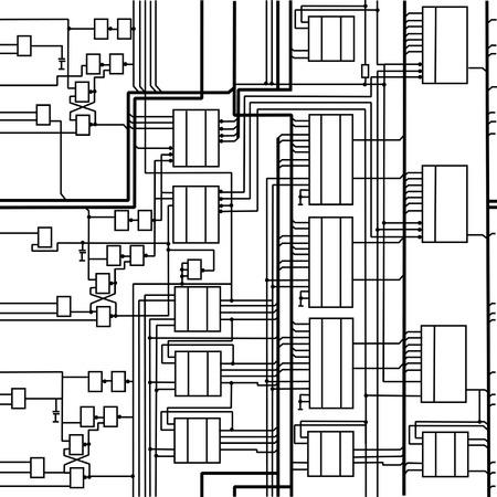 seamless digital electronic scheme Stock Vector - 3943060
