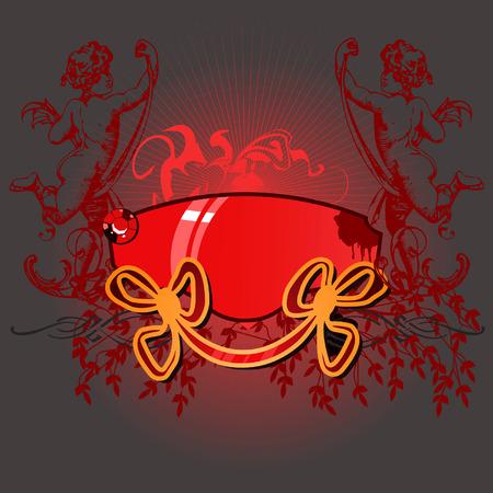 Glow Cupid Banner Vector
