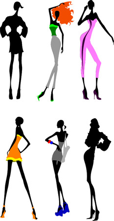 Six Long Legs Girls. Other In My Portfolio. Vector