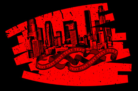 Red Black Grunge Graffiti Banner  Stock Vector - 5358053