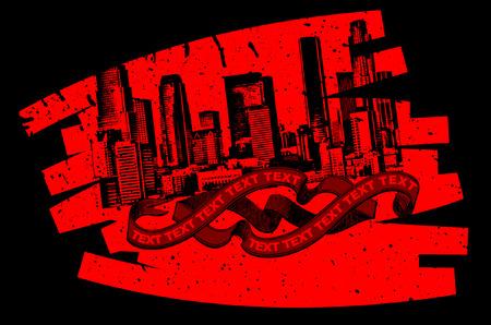 Red Black Grunge Graffiti Banner Stock Vector - 5358053
