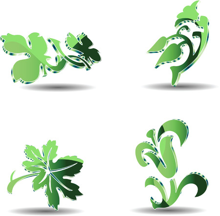 Four 3D Eco Object Stock Vector - 5727342