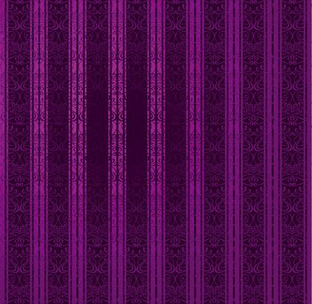 Purple Stripe Seamless Wallpaper. Vector Illustration. Vector