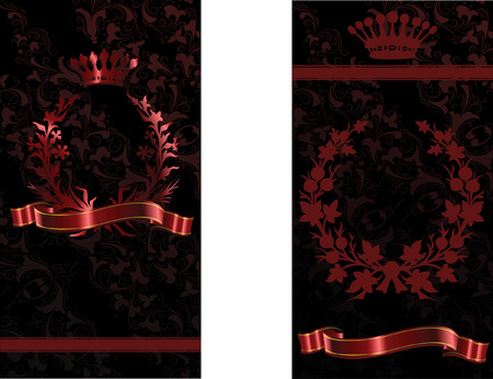 Crown And Flower Covers Background. Vector Illustration Stock Vector - 6169463
