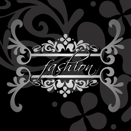 Decorative Fashion Ornate Black Banner. Vector Illustration. Vector
