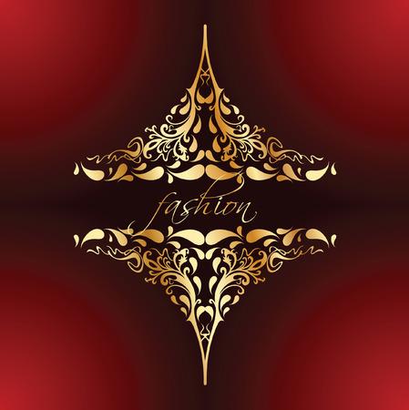 Decorative Fashion Vintage Gold Ornate Banner. Vector Illustration. Vector