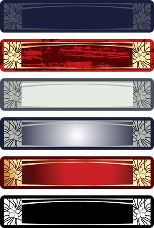 horisontal: Decorative Horisontal Vintage Ornate Banner. Vector Illustration.