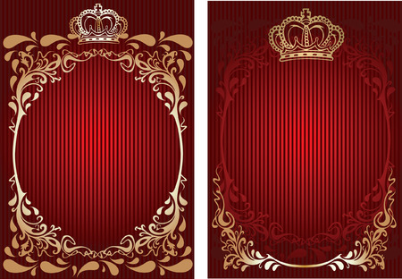 Red And Gold Royal Ornate Banner. Stock Vector - 6601403