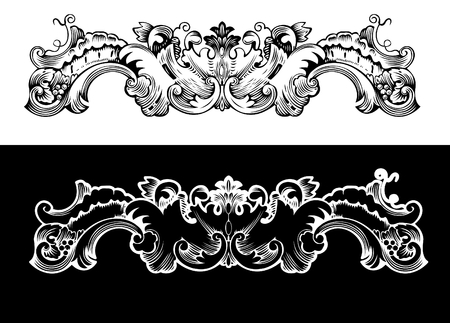 Antique Design Element Engraving, Scalable And Editable Vector Illustration Vector